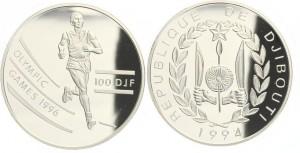 100 franchi 1994 in argento, Gibuti