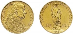 100-lire-1930-Vaticano