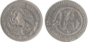 20-centavos-1980-in-lega-di-rame-e-nichel-(cultura-Maya),-Messico
