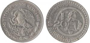 20-centavos-1980-in-lega-di-rame-e-nichel-(cultura-Maya),-Messico