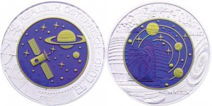 25 euro 2015 in argento e niobio Austria, cosmologia