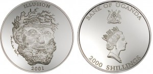 2000 shillings 2001 Uganda - Illusion Spirit of the Mountain