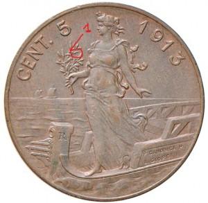 rovescio di un 5 centesimi