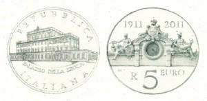 5 euro, centenario Palazzo della Zecca