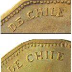 50 pesos 2008 Cile, particolari con CHILE e CHIIE.jpg