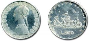 500 lire Mod. 13 - caravelle1957A