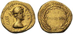 Aureo di GIuglio Cesare 44 aC da asta Artcoins Roma