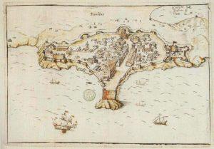 Veduta di Piombino nel XVII secolo