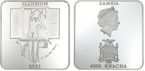 4000 Kwacha 2001 Zambia - The Cat in the window