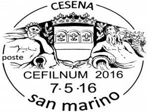 annullo 7/8 maggio 2016 – CESENA Cefilnum