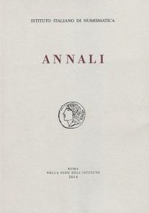 È uscito il volume 60 degli Annali dell'Istituto Italiano di Numismatica 2014.