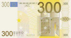 banconota da 300 euro