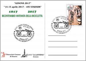 Cartolina convegno numismatico GENOVA 2017