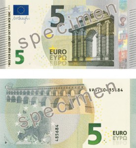 5 euro serie Europa