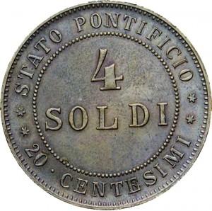 4 soldi 1868 - retro