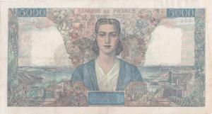 Francia, 5.000 franchi 1942-1947, mm 206 x 112, p. 42