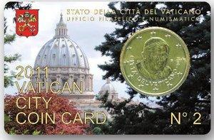 vatican coin card - n. 2 anno 2011