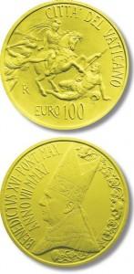 monetazione aurea 100 euro Le stanze di Raffaello