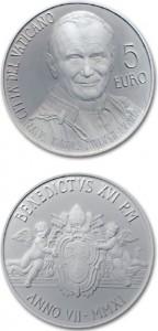 5 euro beatificazione di papa Giovanni Paolo II