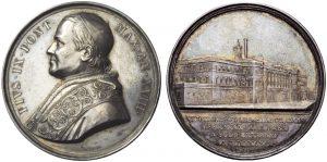 Medaglia Pio IX 1863, Ag, mm 36