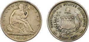 Mezzo dollaro Confederato 1861