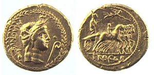 aureo di Gneo Pompeo