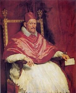 Innocenzo X nel celebre ritratto di Velasquez.