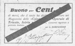 Buono 50 centesimi Trieste Istria  e Friuli
