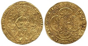 doppio fiorino inglese 1343 - 1344
