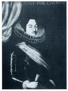 Ritratto del Principe Siro all'età di 19 anni quando era ancora un conte e non principe come indicato nella scritta della parte superiore.