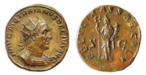 Doppio sesterzio di 32,44 grammi coniato a Roma nel 249