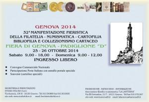 Genova 2014. 32a Manifestazione fieristica del francobollo, della numismatica e della  cartofilia