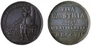 medaglia austriaca 1707