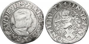 mezzo testone inedito del duca Filiberto II
