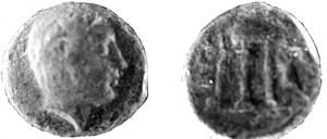 Nominale di bronzo della zecca di Crotone