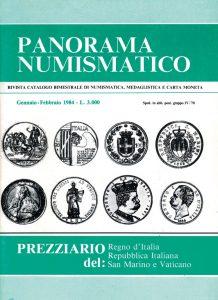 La copertina di Panorama Numismatico numero uno del 1984