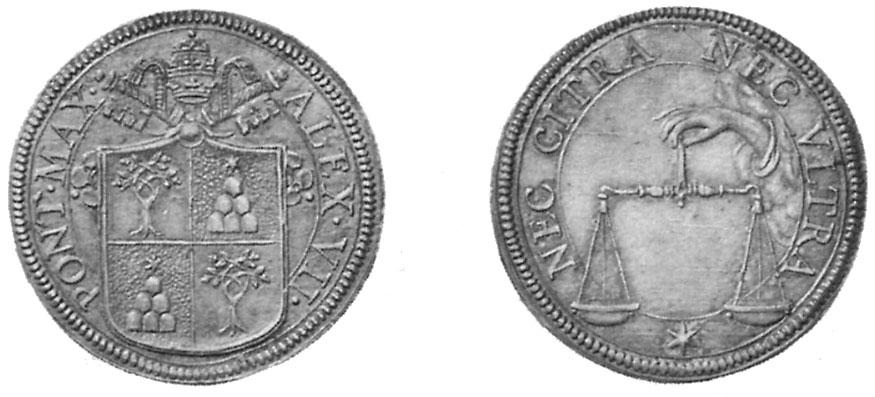Testone Alessandro VII