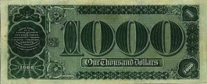 la banconota da 1000 dollari