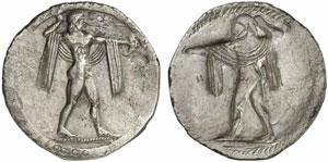 statere arcaico di Poseidonia