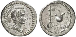 M. Iunio Bruto, denario