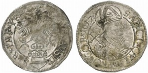 Testone o lira da 24 soldi 1617