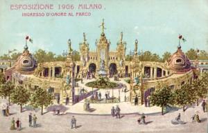 Cartolina 1906 esposizione Milano