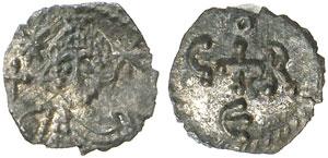 Roma, Papa Gregorio III (731-741) 1/8 Siliqua.
