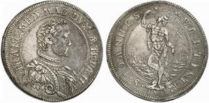 Firenze, Francesco I de Medici (1574-1587) Piastra 1575.