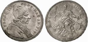 Benedetto XIV (1740-1758) Scudo romano 1753
