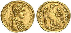 Sicilia, Federico II (1197-1250) Augustale della zecca di Messina.