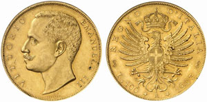Savoia, Vittorio Emanuele II (1900-1946) 100 Lire 1903.