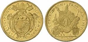 Bologna - Pio VI (1774-1799) 10 Zecchini 1787