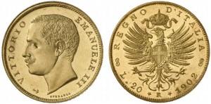 Savoia - Vittorio Emanuele III (1900-1946) 20 Lire 1902
