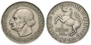 1 bilione di marchi 1923, Vestfalia